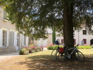 Frans landschap met fietsen